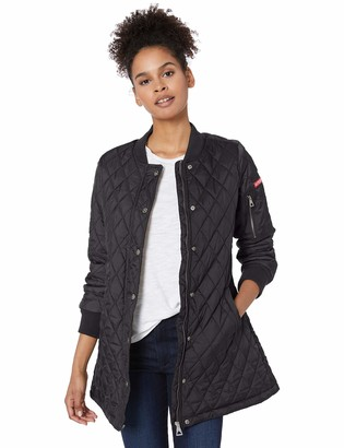 Urban Republic Women's Juniors THINFILL Quilt Long Jacket