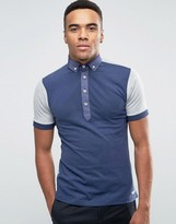 Dickens And Browne Chambray Panel Polo