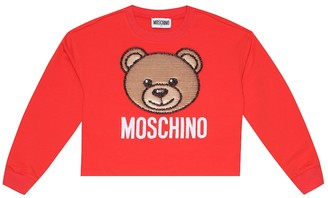 Moschino Kids Sequined stretch-cotton sweater