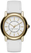 Marc Jacobs Courtney Goldtone Stainless Steel & Leather Strap Watch