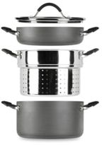Tabletops Unlimited Stax Living® 4-Piece Hard Anodized 6-Quart Stock Pot Set