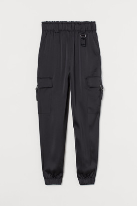 H&M Satin Utility Pants - Black