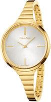 Calvin Klein Women's Swiss Lively Gold-Tone PVD Stainless Steel Bracelet Watch 34mm K4U23526