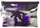 Christian Dior Anselm Reyle Neon Camouflage Clutch