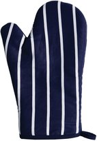 Premier Housewares Navy Butcher Stripe Single Right Hand Oven Glove (100% Cotton)