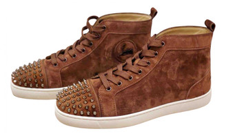 Christian Louboutin Louis Brown Suede Trainers