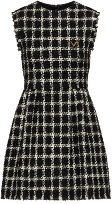 Valentino Wool-Blend Sleeveless Sheath Dress