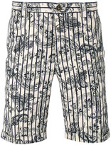 Incotex paisley stripe shorts