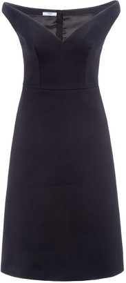 Prada Sweetheart Neckline Flared Skirt Dress