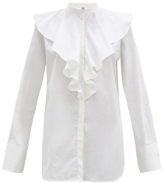 Totême Ruffled Cotton-poplin Shirt - White