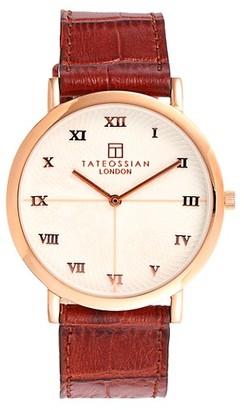 Tateossian Leather Strap Watch