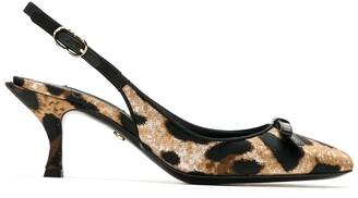 Dolce & Gabbana Lori leopard-print slingback pumps