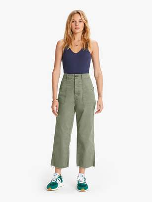 Mother Patch Pocket Private Ankle Fray - Army Green