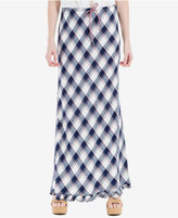 Max Studio London Plaid Maxi Skirt