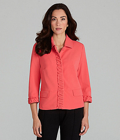 TanJay Ruched-Trim Jacket