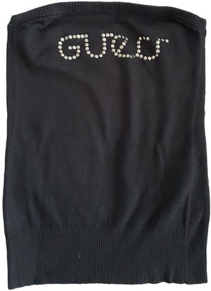 GUESS Black Cotton Top for Women