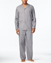 Club Room Men's Tonal Glenplaid Flannel Pajama Set, Only at Macy's