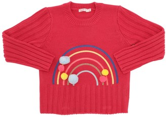 Billieblush Rainbow Acrylic Knit Sweater