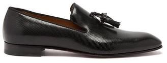 Christian Louboutin Dandelion Tasselled Snake-embossed Leather Loafers - Mens - Black