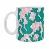 DENY Designs Zoe Wodarz Cactus Morning Mugs in Green (Set of 2)
