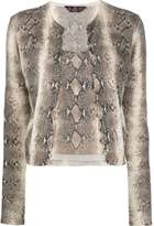 John Galliano Pre Owned 1990's snakeskin print top and cardigan set