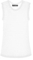 Dolce & Gabbana Lace-knit tank top