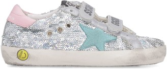 Golden Goose Old School Leather Sneakers With Straps