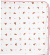 Ralph Lauren Bear Print Doubled Cotton Jersey Blanket