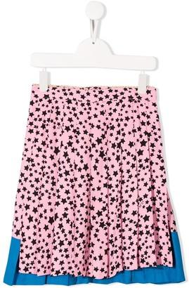 No.21 Kids flared star print skirt
