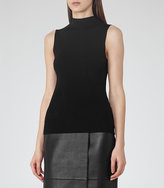 Reiss Aida High-Neck Sleeveless Knit