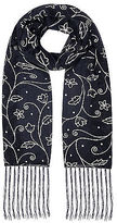 Yours Clothing Yoursclothing Plus Size Womens Foil Floral Print Shimmer Scarf Shawl Wrap
