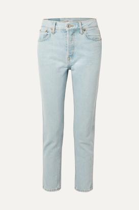 RE/DONE 50s Cigarette High-rise Slim-leg Jeans - Light denim