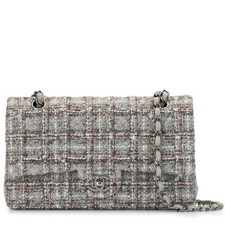 Chanel Pre Owned tweed Double Flap shoulder bag