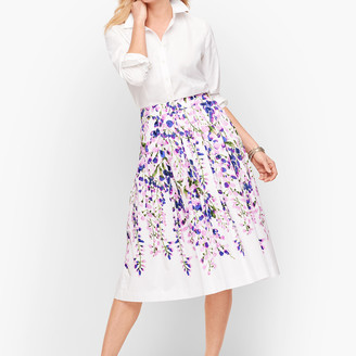 Talbots Wisteria Print Midi Skirt