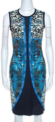 Roberto Cavalli Multicolor Jersey Damask Print Dress M