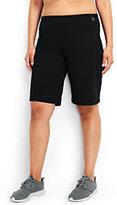 Lands' End Women's Plus Size Active Relaxed Short-Iron Heather