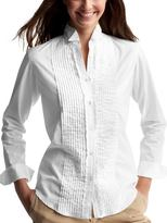 Ruffle pintuck shirt