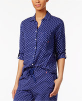 Nautica Printed Cotton Knit Pajama Top