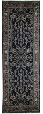 "Bokara Rug Co., Inc. Hand-Knotted Wool Black/Red Rug Rug Size: Runner 6'4"" x 16'10"""