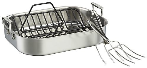 Crate & Barrel All-Clad ® Stainless Roaster Set