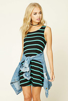 Forever 21 FOREVER 21+ Contemporary Stripe Mini Dress