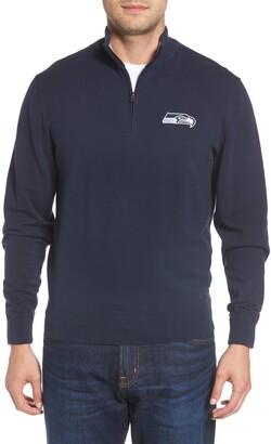 Cutter & Buck Seattle Seahawks - Lakemont Regular Fit Quarter Zip Sweater