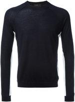 Prada stripe panel sweater