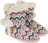 Accessorize Rachel Fairisle Slipper Boots