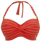 Fantasie Red Bandeau Top Swimsuit Ravello.