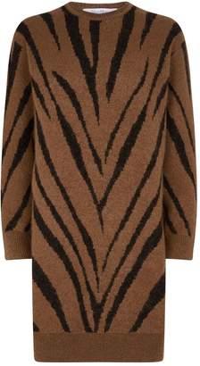 Max Mara Knitted Zebra Print Dress