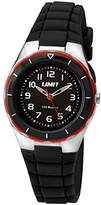 Limit Active Unisex Quartz Watch with Black Dial Analogue Display and Black Plastic Strap 5586.24