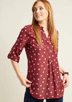 ModCloth Hosting for the Weekend Tunic in Merlot in L