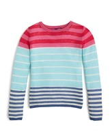 Aqua Girls' Multi Stripe Color Block Sweater, Big Kid - 100% Exclusive