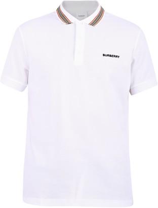Burberry Logo Stripe Detail Polo Shirt